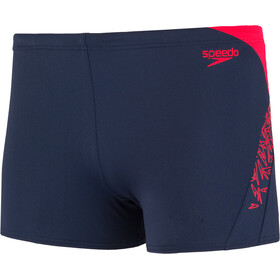 speedo Boom Splice Short de bain Homme, navy/lava red